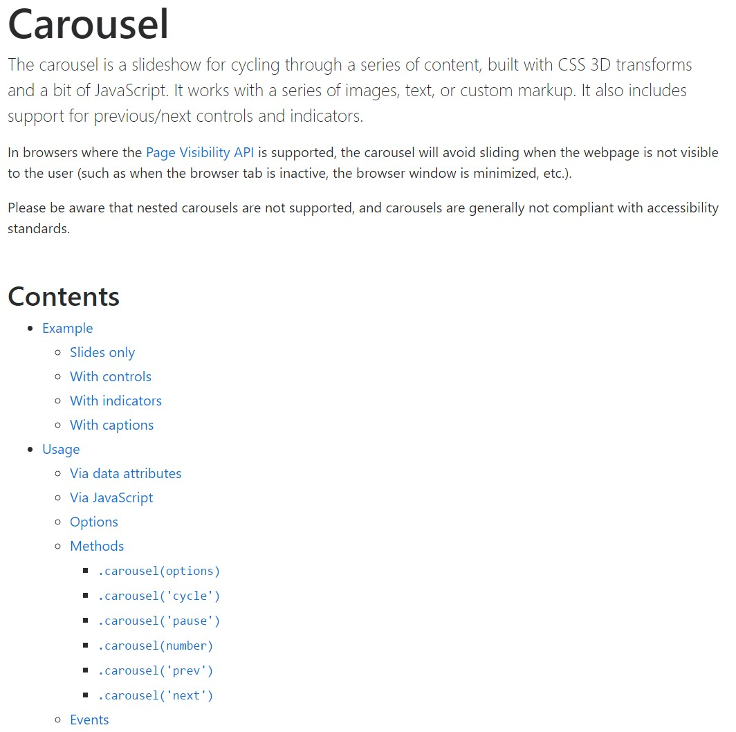 Bootstrap carousel  approved  information
