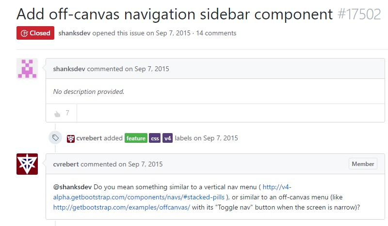 Add off-canvas navigation sidebar component