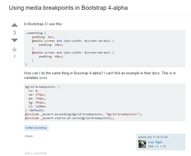 Bootstrap Breakpoints issue