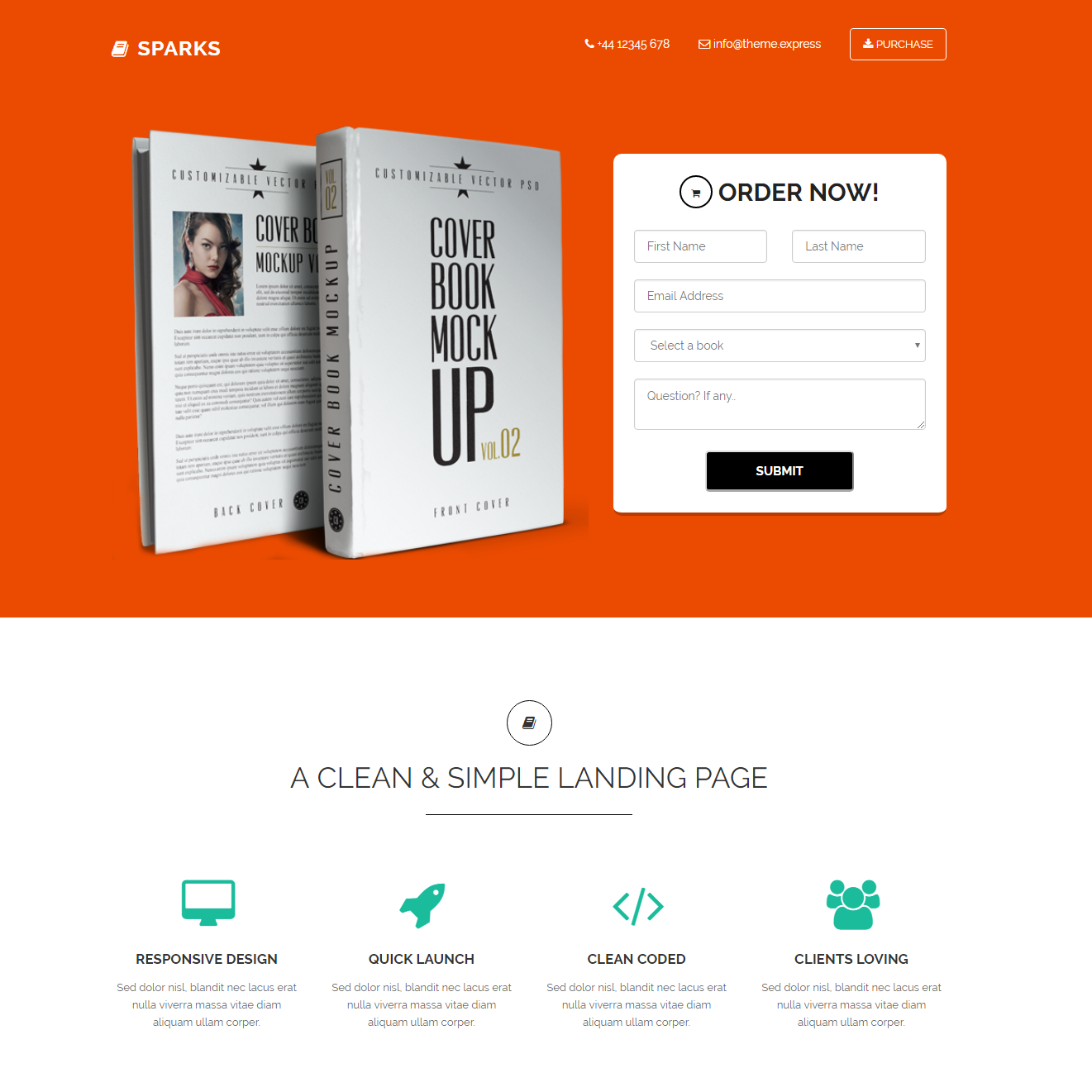 Free Download Bootstrap Sparks Templates