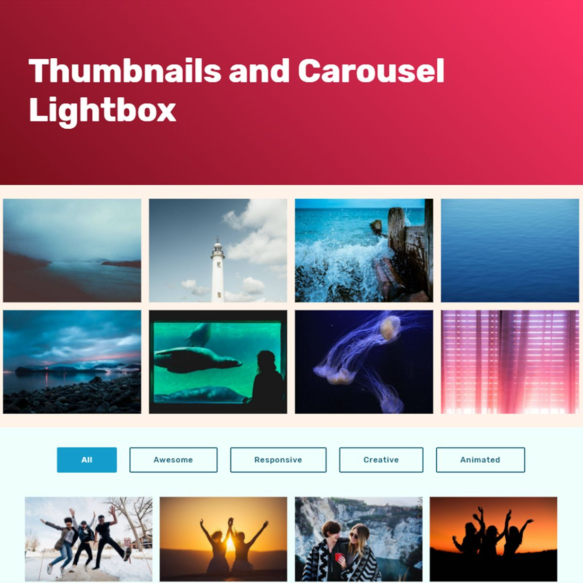 CSS3 Bootstrap Picture Slider