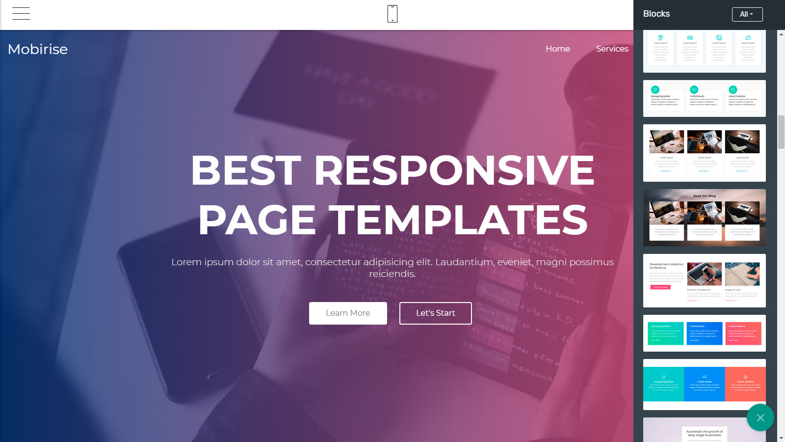 bootstrap page templates