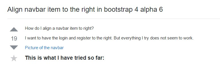 Align navbar  thing to the right in Bootstrap 4 alpha 6