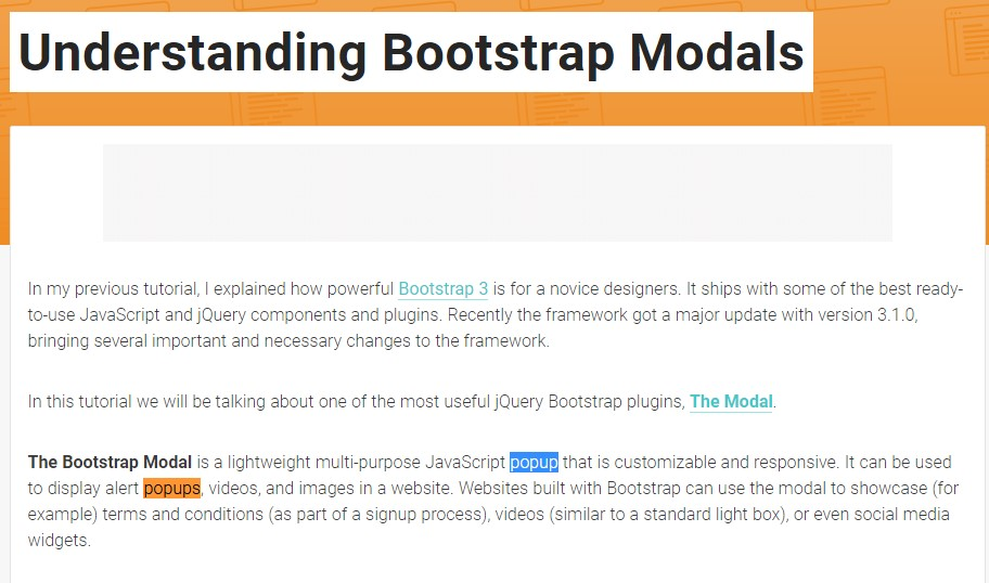 Yet another  handy article  concerning Bootstrap Modal Popup