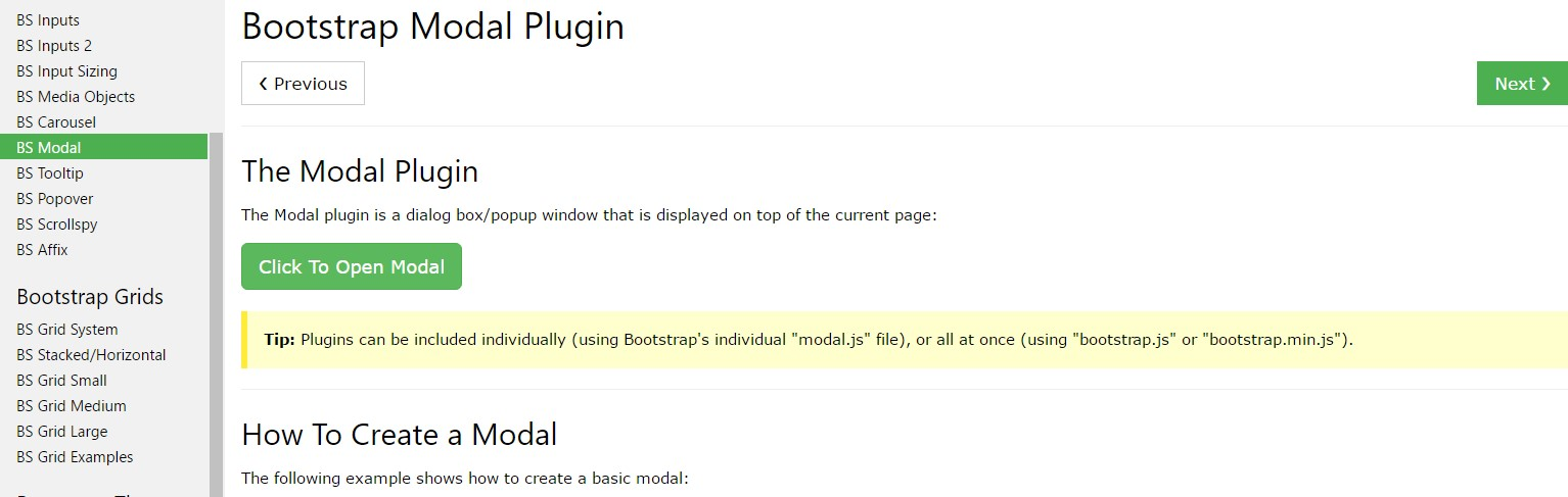 Bootstrap Modal Popup:  article tutorial