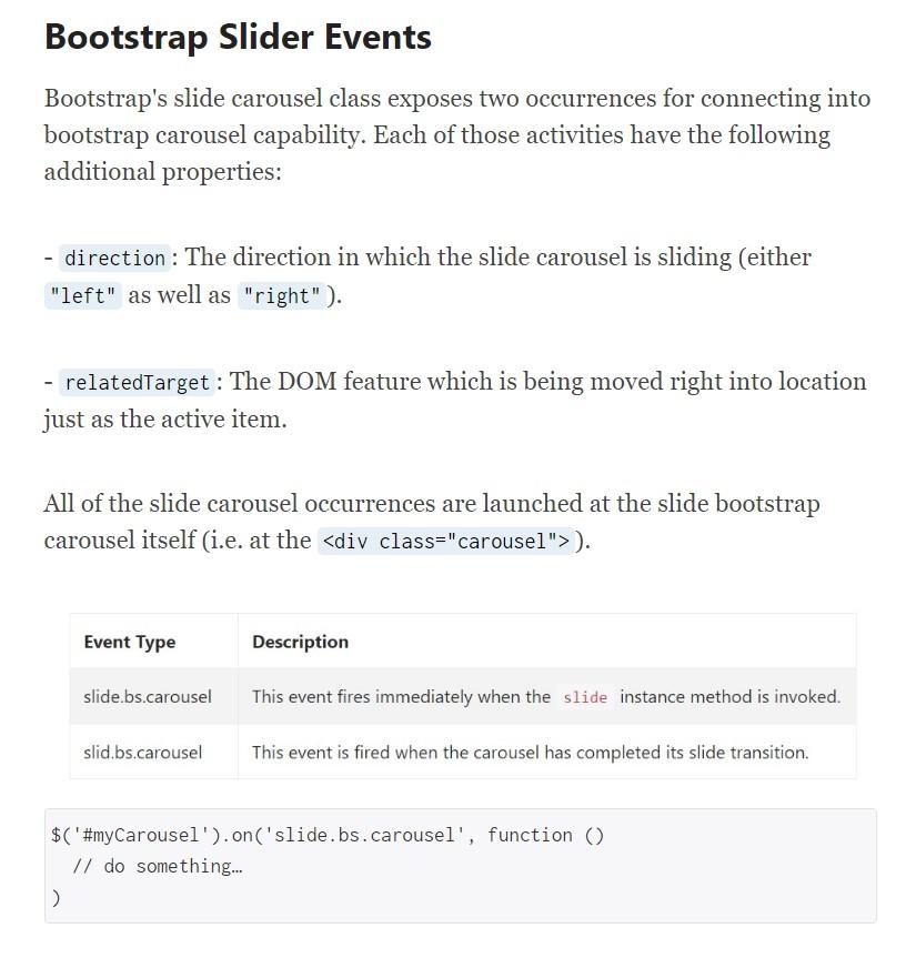 Bootstrap Slider Bar