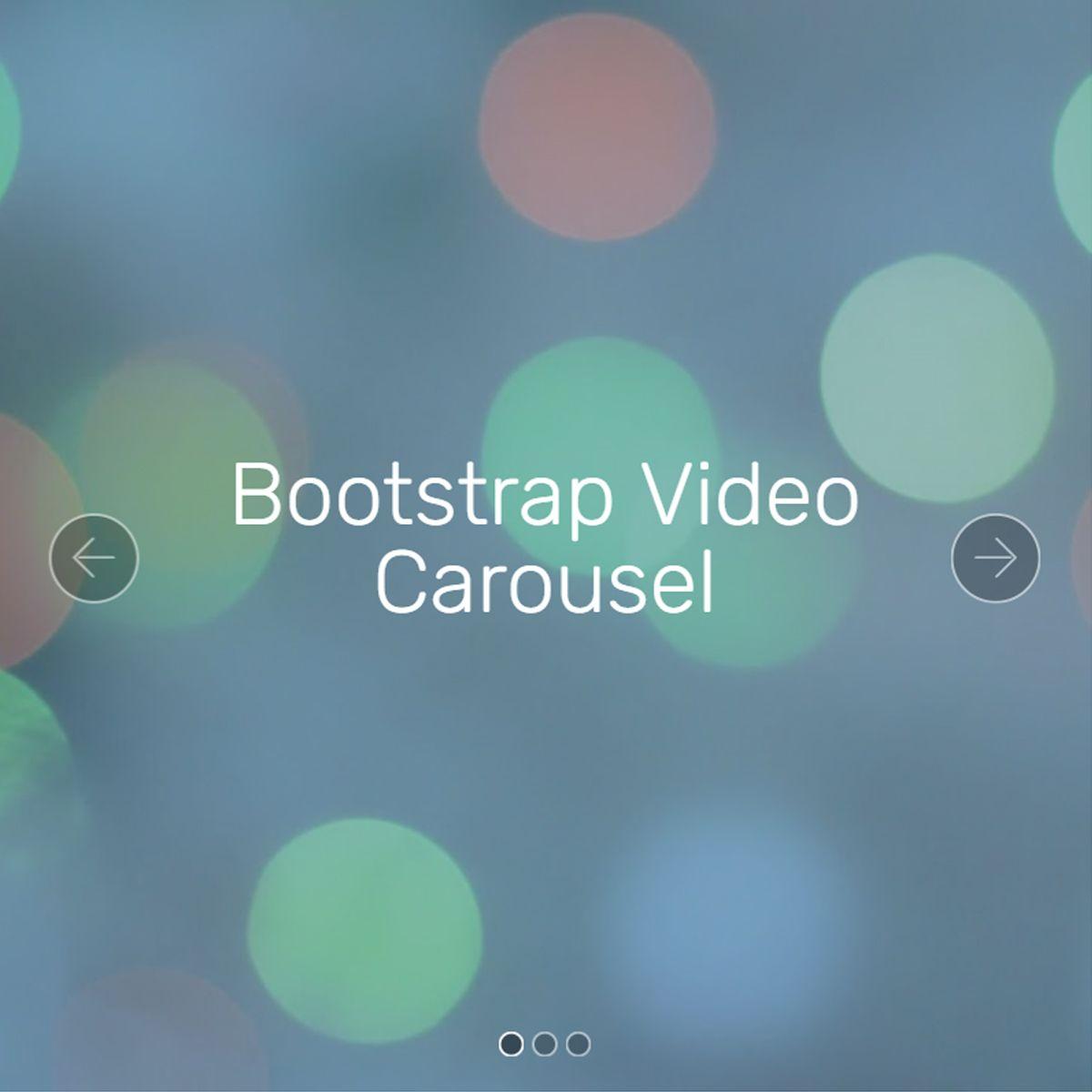 CSS3 Bootstrap Illustration Slideshow