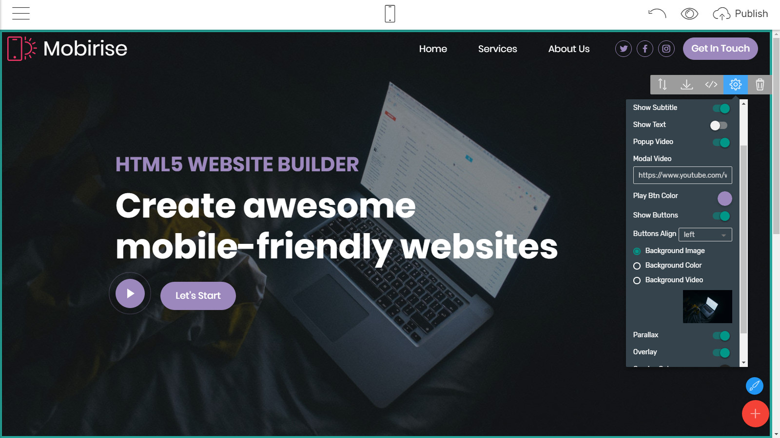 responsive page themes